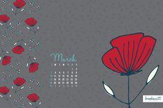 March desktop calendar Desktop Calendar, March, Objects, Mac