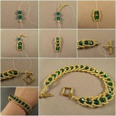 How to DIY Emerald City Flat Spiral Bracelet This is really a creative technique to make bracelet in spiral way, which makes the bracelet chic and looks like designer! I love the classic color matching of green emerald… Wie DIY Emerald City Flat Spiral Bead Jewellery, Seed Bead Jewelry, Jewelery, Temple Jewellery, Seed Beads, Beaded Bracelets Tutorial, Beaded Bracelet Patterns, Earring Tutorial, Bracelet Designs