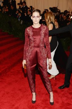 Kristen Stewart wore a Stella McCartney jumpsuit when she hit the Met Gala red carpet!