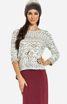 Tribal Terrycloth Sweater