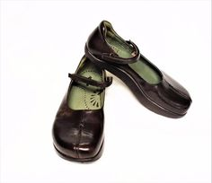 08d2e0a24 NEW Kalso Earth Solar 9.5 Mary Jane Shoes Brown Leather Negative Heel Firm  Insol #KalsoEarthShoe