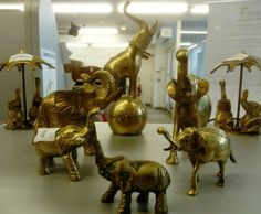 Brass elephants 🐘 just beautiful