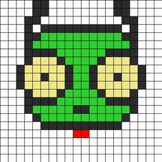 Gir Face Perler Perler Bead Pattern | Bead Sprites | Characters Fuse Bead Patterns