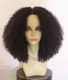 Women Real Human Hair Afro Kinky Curly Full Lace Wigs Brazilian Lace Front Wigs | eBay