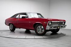 1969 Garnet Red Chevrolet Nova California SS 350 4 Speed V8   Gear X Head