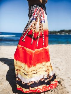 Printed Bohemian Loose Fitting Women's Skirt COLORMIX: Skirts | ZAFUL