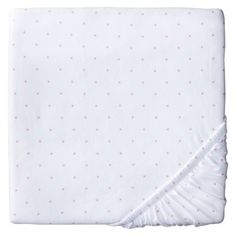 Circo® Knit Dot Fitted Crib Sheet - pink dots