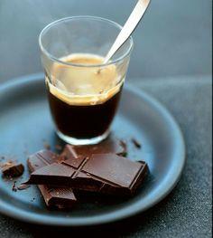 upsell- add some choc Espresso + chocolate = perfection I Love Coffee, Coffee Break, My Coffee, Coffee Music, Morning Coffee, Coffee Cafe, Coffee Drinks, Coffee Shops, Coin Café