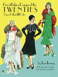 Great Fashion Designs of the Twenties Paper Dolls By: Tom Tierney NEW | eBay