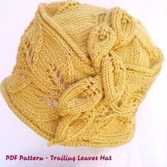 knitted cloche hat pattern - Google Search
