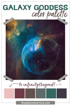 Use this FREE gorgeous color palette to make your brand extra BEAUTIFUL! Check out the full post to get this Galaxy Goddess color palette and ALL my free color palettes (with hex codes) right to your inbox.