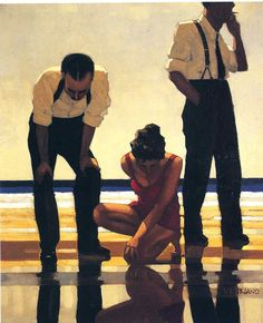 Jack Vettriano, Narcisistic Bathers. Paintings & Artwork Gallery in Chronological Order