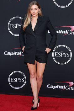 Simone Biles wins gold for best beauty look at this year's ESPY Awards Elizabeth Olsen, Red Court Shoes, Louis Vuitton Dress, Game Of Thrones, Tadashi Shoji Dresses, Black Slip Dress, Miranda Kerr, Beautiful Celebrities, Sexy Legs