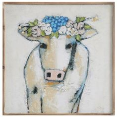 Cow and Flowers Wall