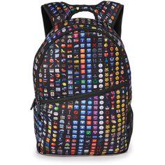 Terez Backpack ($41) ❤ liked on Polyvore featuring bags, backpacks, black emoji, knapsack bag, rucksack bags, zip bag, terez and water bottle bag