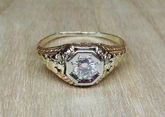 Vintage Antique .22ct Old European Cut Diamond by DiamondAddiction