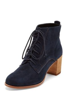 Dolce Vita Hal Lace Tie Bootie.  beautiful navy