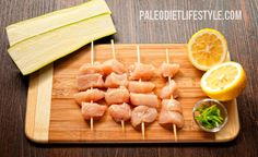Lemon Chicken Kebabs With Grilled Zucchinis - Paleo Diet Lifestyle | Paleo diet Recipes Tips