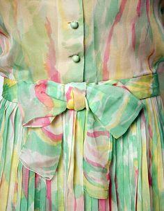 Cocktail Dress c.a. S/S 1965,  Medium: silk