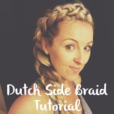 Easy side braid tutorial on Just a girl blog!