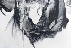 "Patti Jordan ""Needlers"" Ink and Graphite on paper 2014"