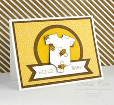 Stampin' Up! Baby Card - Crazy About You Stamp Set, Baby's First Framelits - www.secretlifeofpaper.com