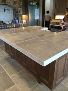 French Limestone with chiseled edge.