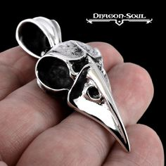 STERLING SILVER LARGE VIKING ODIN'S RAVEN PENDANT - DRAGON SOUL JEWELRY - NEW #DragonSoulJewelry