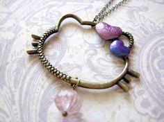 Hello Kitty Necklace by iceblues on Etsy, $18.00