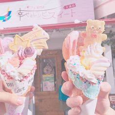 I don't advise you to steal something from me because most likely I will devour you or my friend Sanya will eat you😔😔👌🏻 i am very… Aesthetic Food, Pink Aesthetic, Kawaii Dessert, Pink Foods, Japanese Snacks, Cute Desserts, Cafe Food, Food Art, Sweet Treats