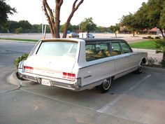 Spotted in Fort Worth. CHERRY 1965 Chrysler New Yorker wagon.