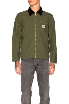 Carhartt WIP Detroit Jacket in Rover Green & Black