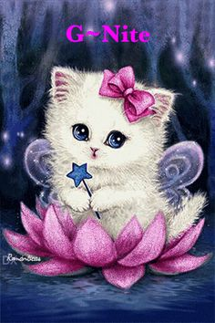Cartoon Cat - Easy DIY Diamond Painting Kits - OwlCube - Diamond Painting by Numbers Cute Kittens, Cats And Kittens, Animals And Pets, Cute Animals, Baby Animals, Kitten Cartoon, Kitten Images, Cat Gif, Animal Drawings