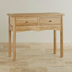 Cairo Natural Solid Oak Console Table from the Cairo Solid Oak range by Oak Furniture Land