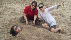 With my bestfriends - pantai pasir putih - banten - indonesia