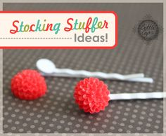 Bobby Pin with Flower Cabochon -- Perfect Stocking Stuffer