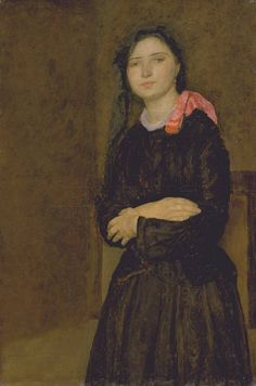 'Dorelia in a Black Dress' c.1903-4 by Gwen John, (British 1876-1939)