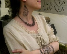 "Temporary tattoos and handmade jewelry! by ""L'encre et la perle"""