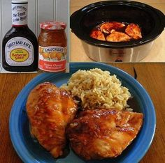 Here is an easy crockpot orange chicken recipe to make that cooks on it's own in your crockpot. Enjoy our favorite crockpot orange chicken recipe Crock Pot Slow Cooker, Crock Pot Cooking, Slow Cooker Recipes, Cooking Recipes, Crockpot Meals, Easy Recipes, Crockpot Dishes, Delicious Recipes, Crock Pots