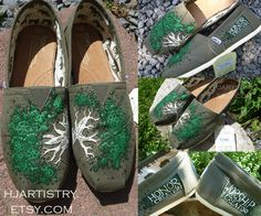 Custom Painted Toms--Tree shoes, honor creation, worship the creator painted shoes    https://www.etsy.com/listing/126825247/custom-painted-toms-tree-flower-creation