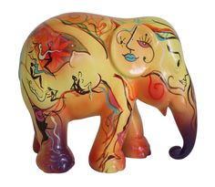 Elephant Parade Webshop - Buy your own elephant here! Asian Elephant, Elephant Love, Elephant Art, Elephant Gifts, Elephant Sculpture, Lion Sculpture, Painted Elephants, Eclectic Fabric, Cow Parade