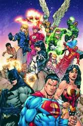 Justice League - Besides the Morrison JLA roster this line-up is one of my favorites (Red Arrow instead of Green, flirting with Hawkgirl; Black Lightning as cool Batman like undercover agent, the classic members Red Tornado, Zatanna, Firestorm on board) Justice League Comics, Dc Comics Heroes, Dc Comics Characters, Comic Book Heroes, Comic Books Art, Catwoman, Arte Dc Comics, Comic Superman, Teen Titan