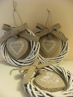 Cuore e Batticuore- neat finish for cross stitch ornament