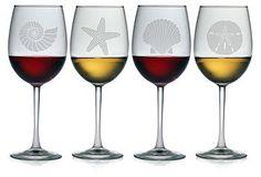 Set the Scene   One Kings Lane - Assorted Seashore Wineglasses