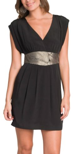 black embroidered keyhole dress