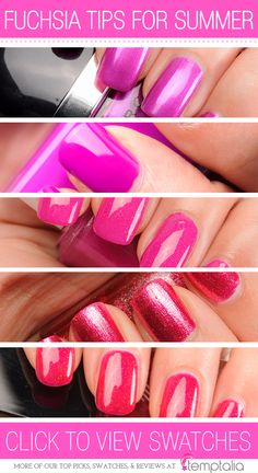 5 Fuchsia & Pink Polishes to Try for Summer