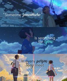 Kimi no na wa Sad Anime Quotes, Sad Quotes, Inspirational Quotes, Your Name Quotes, Your Name Anime, Anime Songs, Kimi No Na Wa, Anime People, Anime Life
