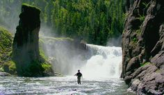 What makes fly fishing so appealing - to be able to hike in and fish something this beautiful - Snake River
