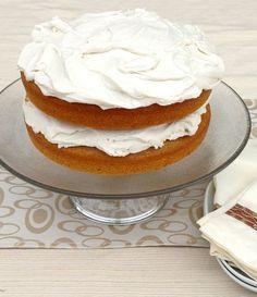 PUMPKIN CAKE with MALLOWY FROSTING! #vegan #EBHolidayBakeOff2015 www.plantpoweredkitchen.com