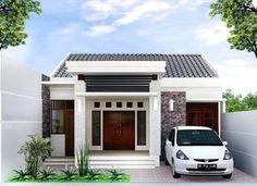 Desain Rumah Minimalis Type 36 Dengan Model Teras Batu Alam